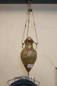 Hanglamp in koper