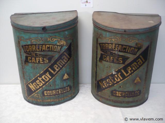 2 oude koffie bussen