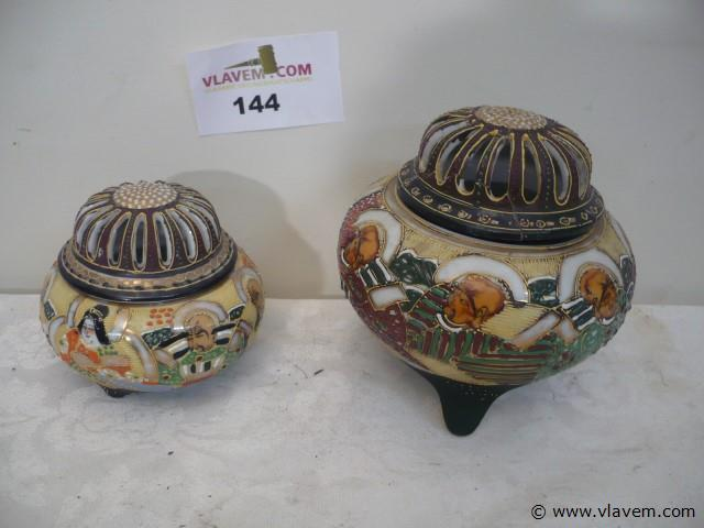 2 chinese potjes