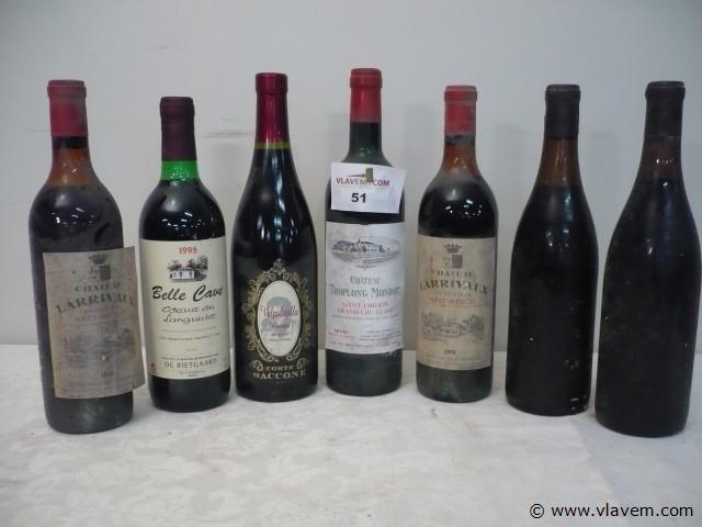 7 flessen wijn