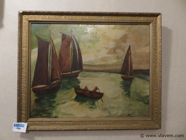 Schilderij olie op doek