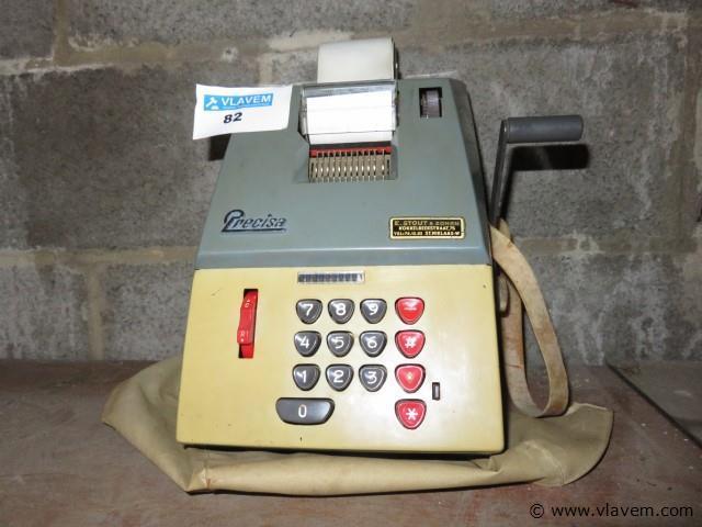 Vintage rekenmachine merk precisa