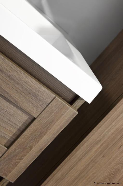 1 st. 120cm Design Badkamermeubel - Kleur grey elm melamine