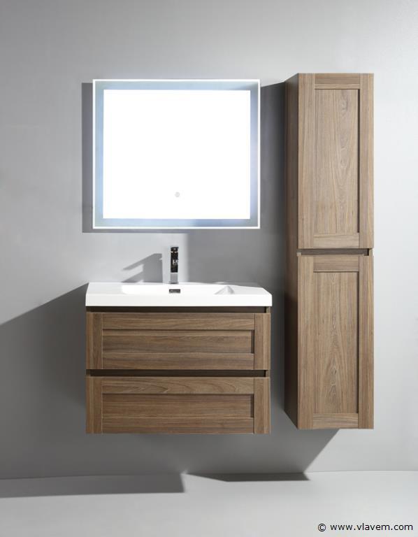 1 st. 80cm Design Spiegel met Led