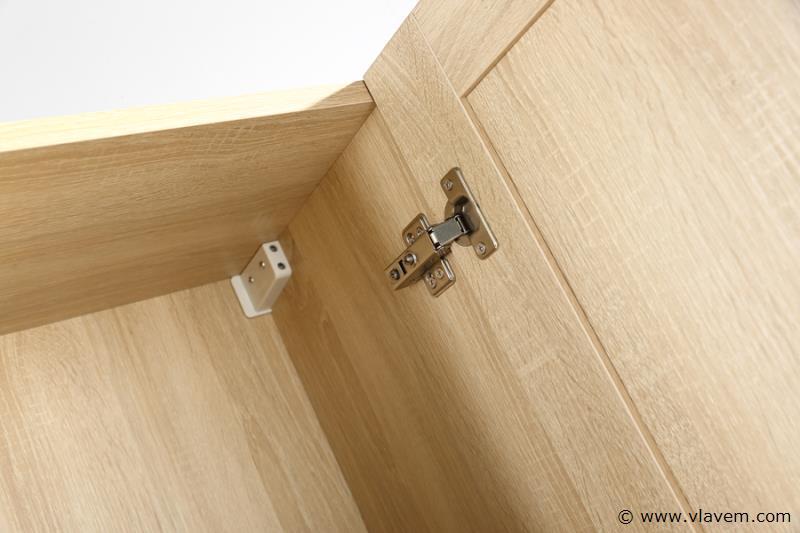 1 st. 160cm Design Kolomkast Badkamermeubel - Kleur wit oak melamine