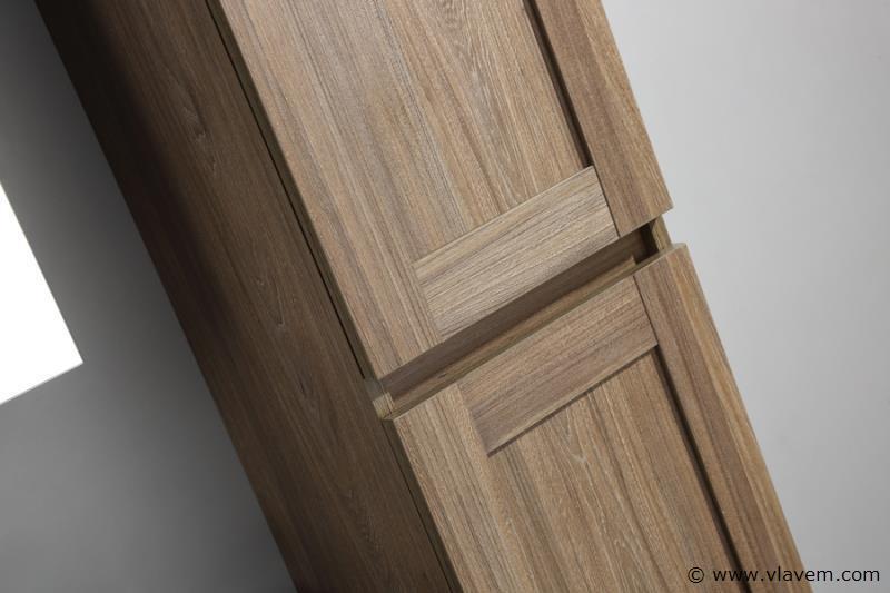 1 st. 160cm Design Kolomkast Badkamermeubel - Kleur grey elm melamine