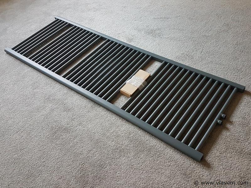 1 st. H1800 x B600 Handdoekradiator mat antraciet