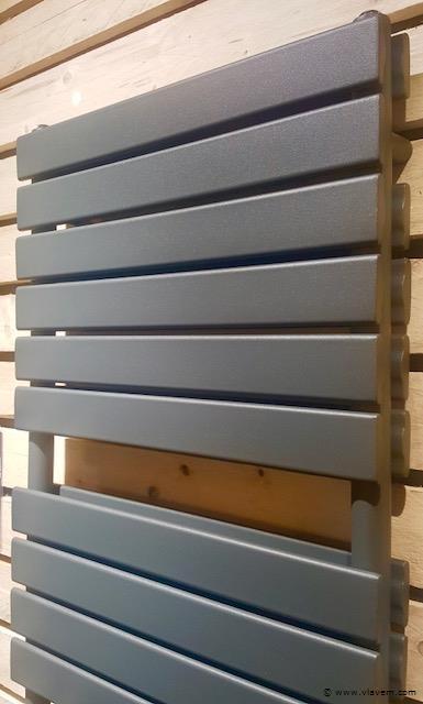 1 st. H1760 x B600 Dubbele design badkamerradiator mat antraciet