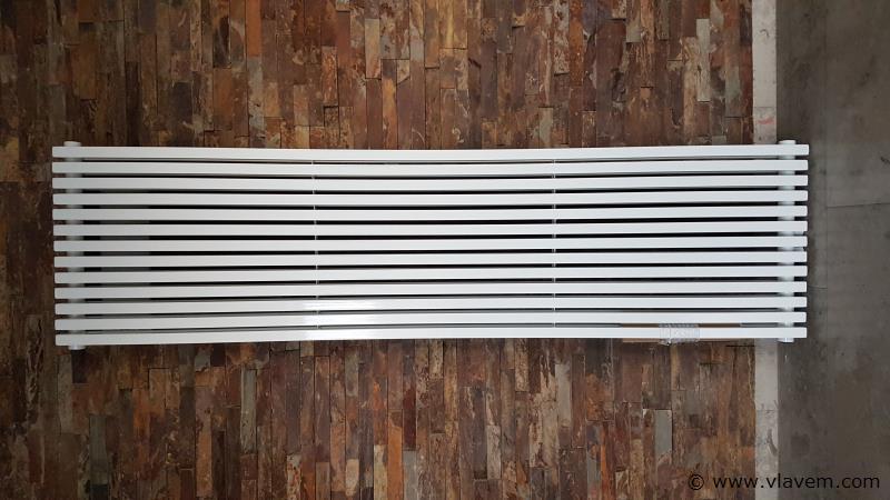 1 st. H1800 x B497 Vierkant tubes designradiator wit