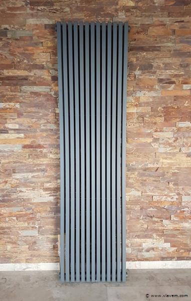 1 st. H1800 x B600 Vierkant tubes designradiator mat antraciet