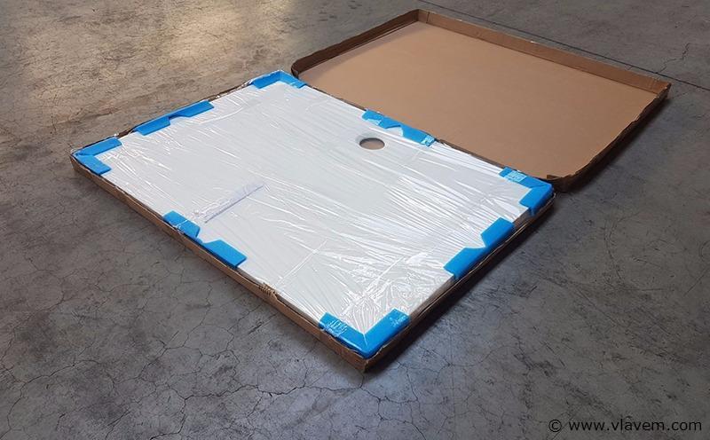 1 st. L140cm Solid Surface douchebak
