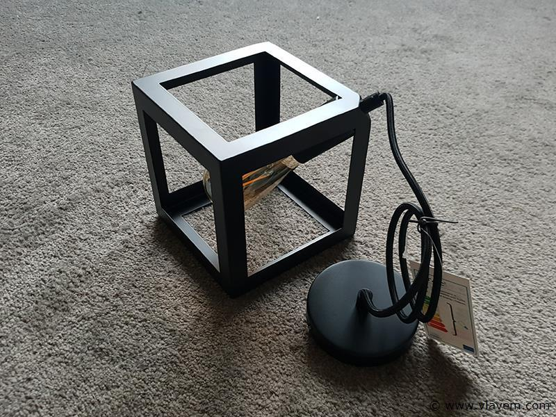 1 st. Geometrisch design hanglampen mat zwart vierkant met E27 fitting - 225mm