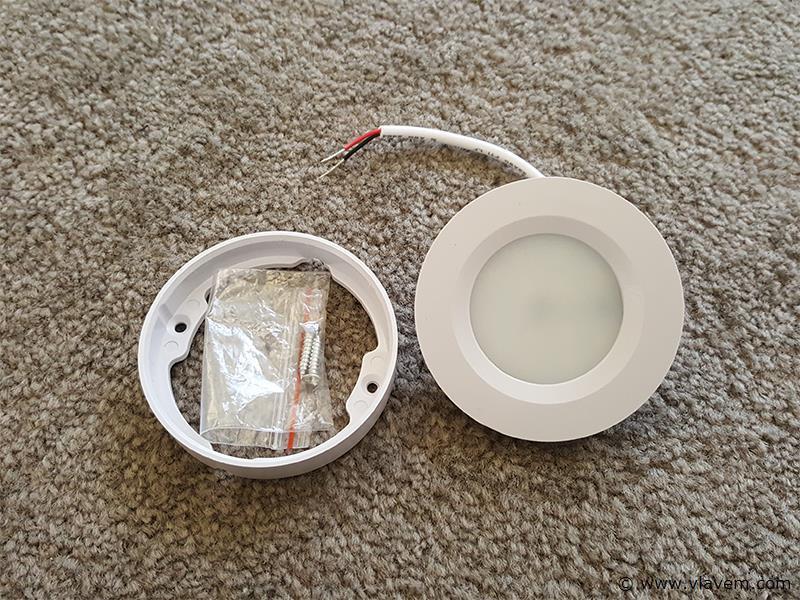 20 st. 3W inbouw en opbouw slim LED panelen - 210 lm - Neutraal wit