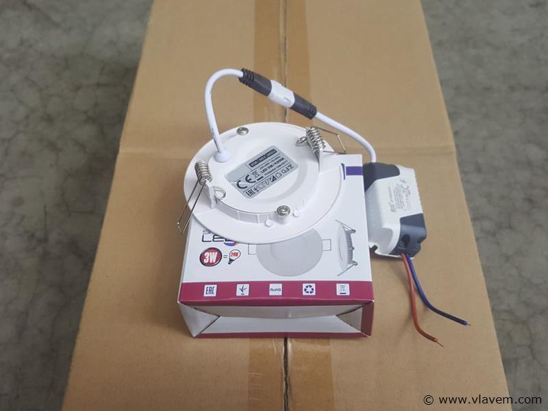 50 st. 3 watt inbouw slim LED panelen - Warm wit