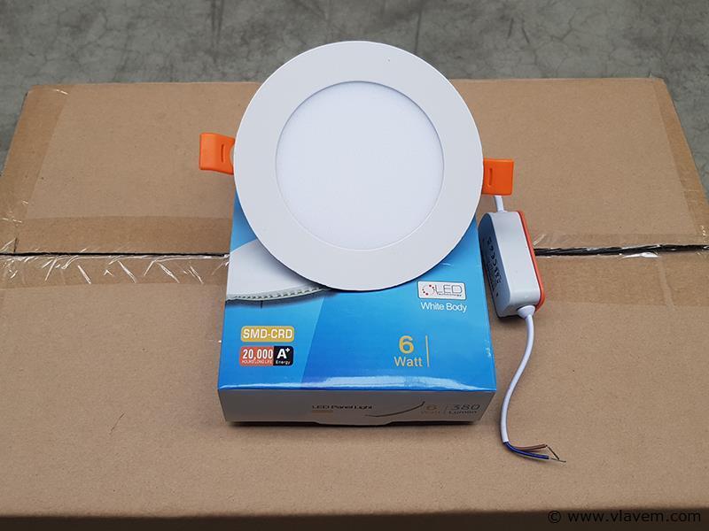 20 st. 6 watt inbouw slim LED panelen - Neutraal wit
