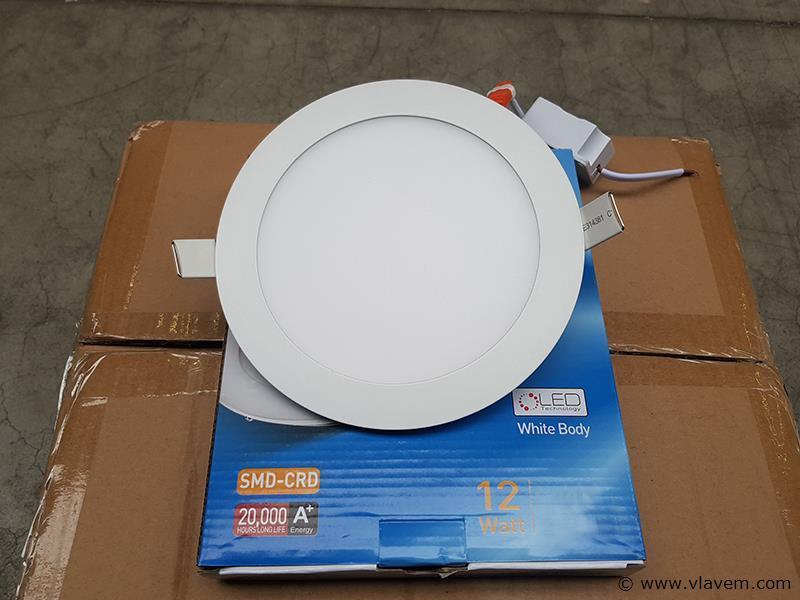 20 st. 12 watt inbouw slim LED panelen - Wit