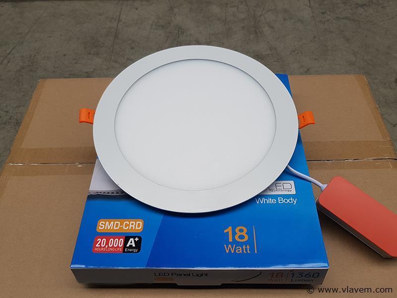 10 st. 18 watt inbouw slim LED panelen - Warm wit