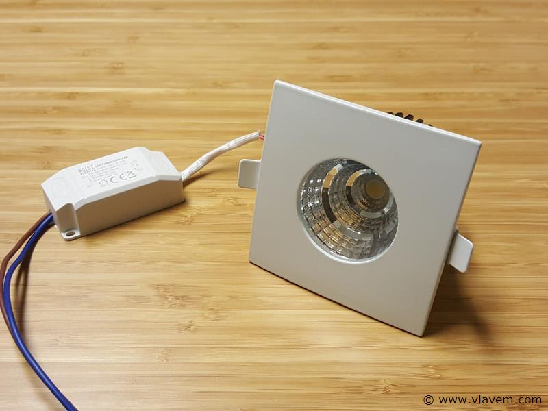 4 st. 6 watt vierkant waterdicht (ip65) led Inbouwspots - Neutraal wit