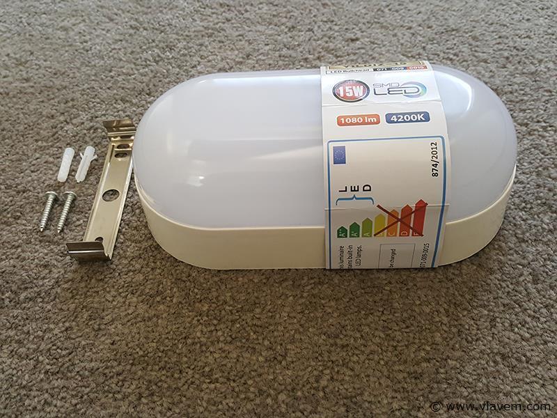2 st. 15W LED Waterdicht opbouw armaturen - 1080 lm - Neutraal wit