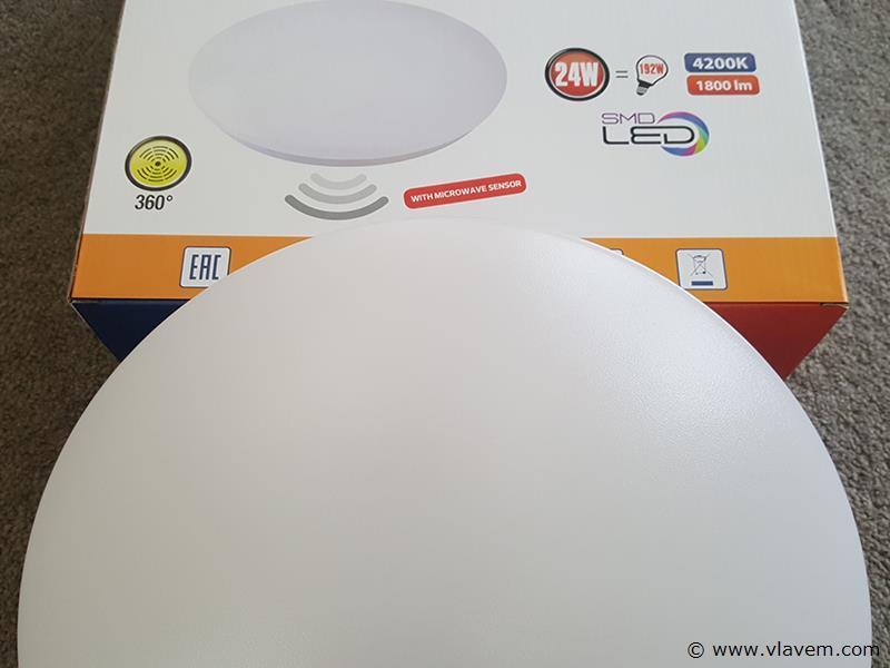 1 st. 24W microwave sensor LED panelen - Neutraal wit
