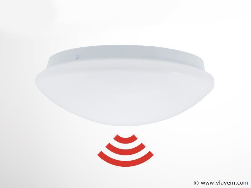 2 st. 24W microwave sensor LED panelen - Neutraal wit