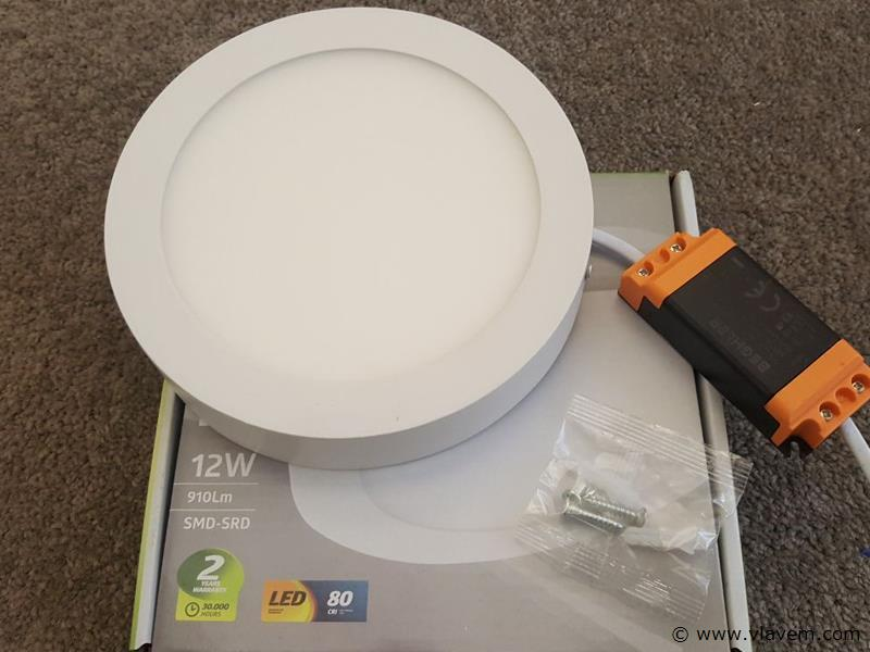 4 st. 12W LED rond opbouw led panelen - Neutraal wit