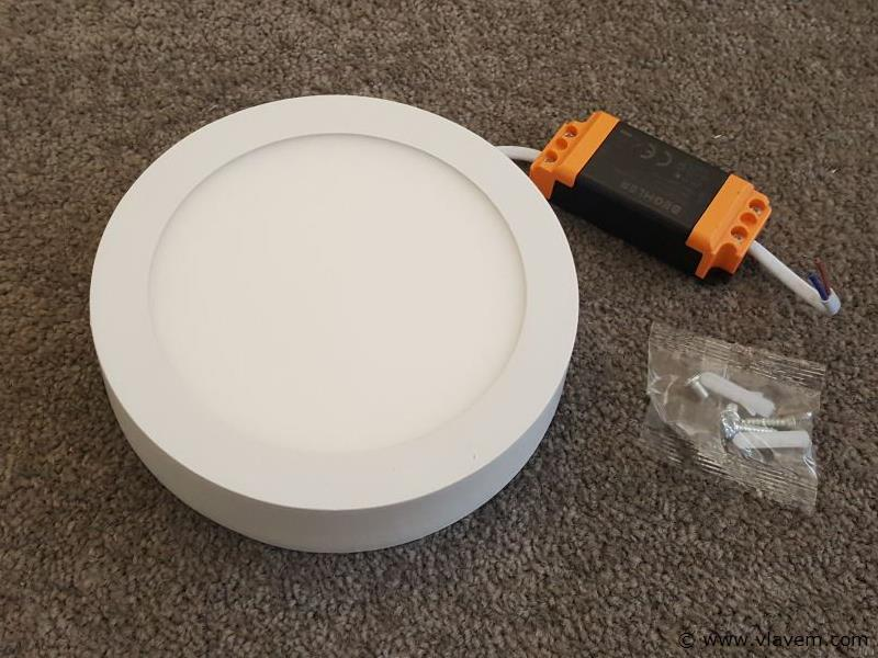 10 st. 12W LED rond opbouw led panelen - Neutraal wit