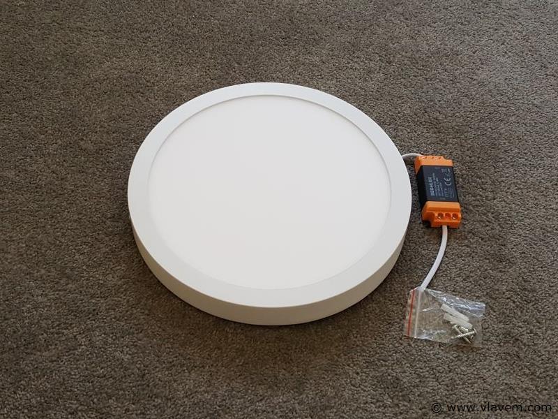 4 st. 28W LED rond opbouw led panelen -  Neutraal wit
