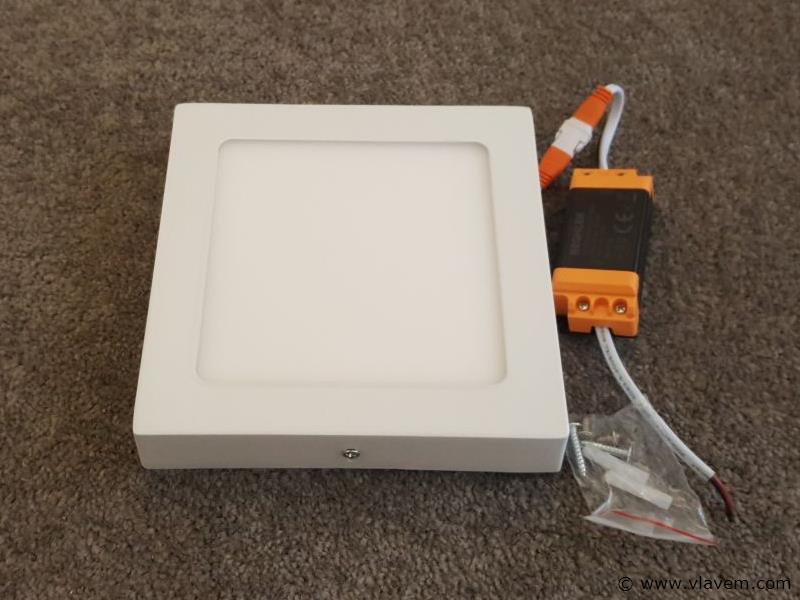 10 st. 12W LED vierkant opbouw led panelen - Neutraal wit