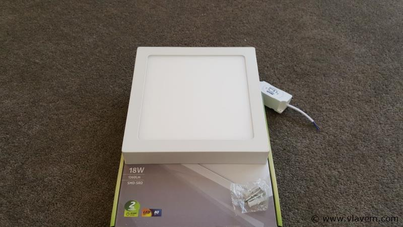2 st. 18W LED vierkant opbouw led panelen - Neutraal wit