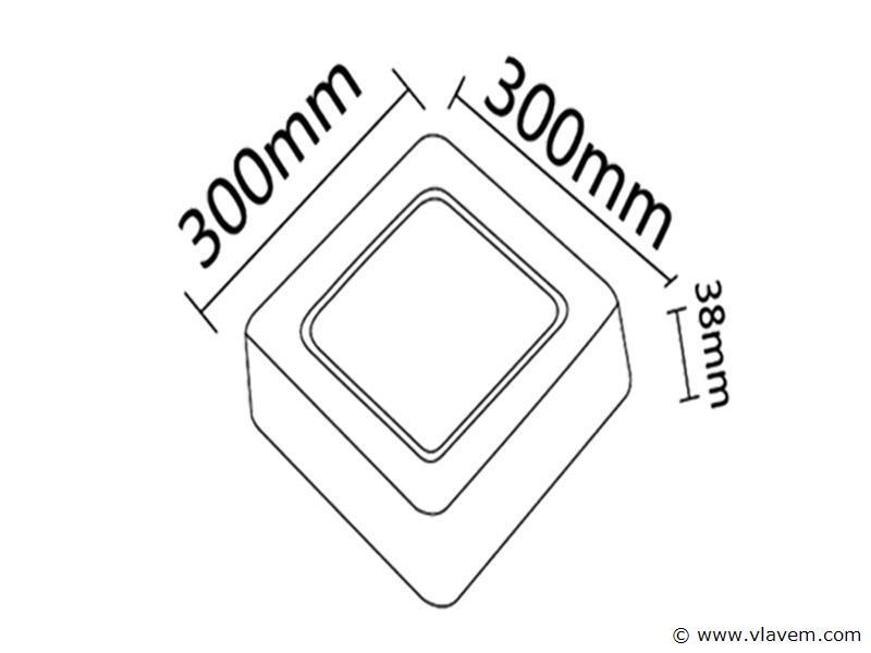 2 st. 28W LED vierkant opbouw led panelen - Neutraal wit