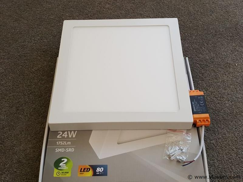 4 st. 28W LED vierkant opbouw led panelen - Neutraal wit