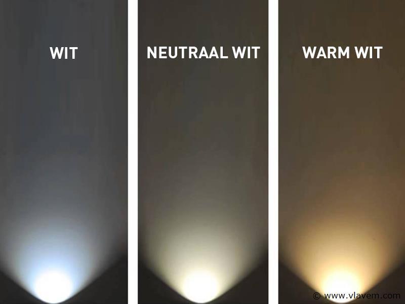 10 st. 5W opbouw zwart LED - Neutraal wit