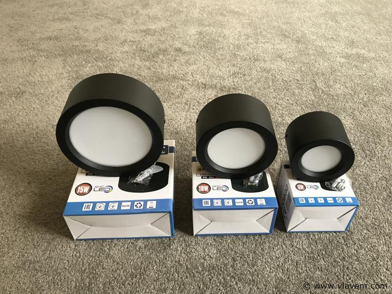 10 st. 15W opbouw zwart LED - Neutraal wit