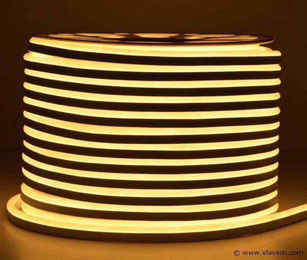 1st. 100 meter neon flex LED - Geel