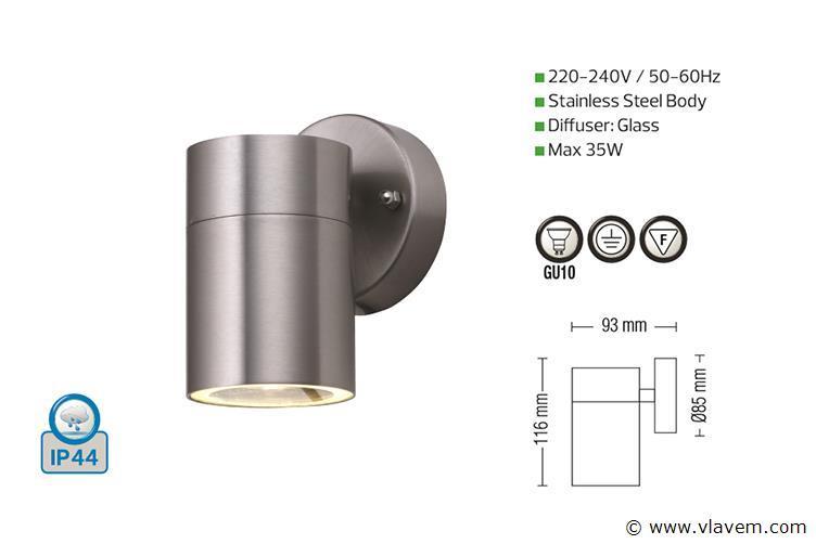 4 st. Mat chroom waterdicht tuinlampen - Warm wit