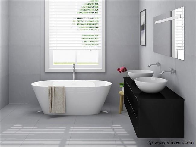 2 Persoons badkamermeubel hoog glans zwart
