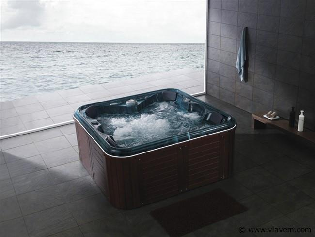 Outdoor spa blauw bad