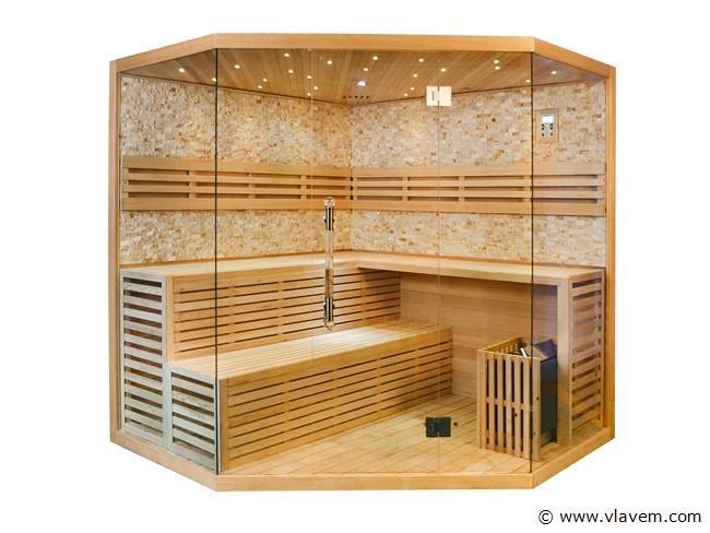 Sauna van 220x220cm. driehoek