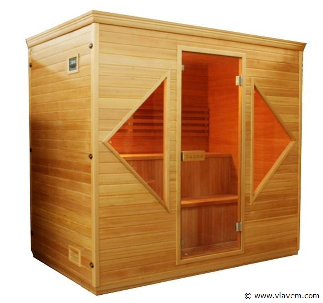 Sauna van 206x153cm.