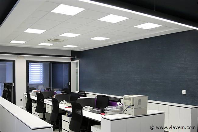 8 st. 45 watt 60x60 LED panelen - Warm wit