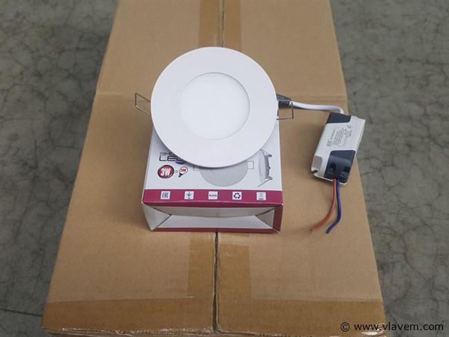 20 st. 3 watt inbouw slim LED panelen - Neutraal wit