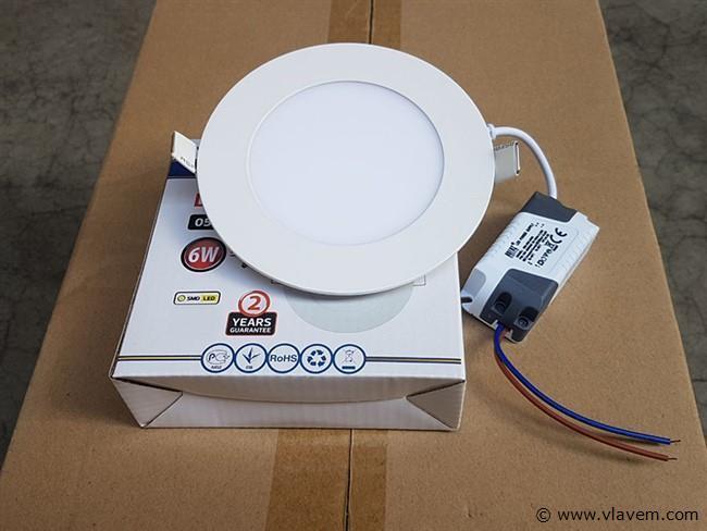 20 st. 6 watt inbouw slim LED panelen - Wit