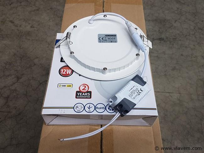 10 st. 12 watt inbouw slim LED panelen - Neutraal wit