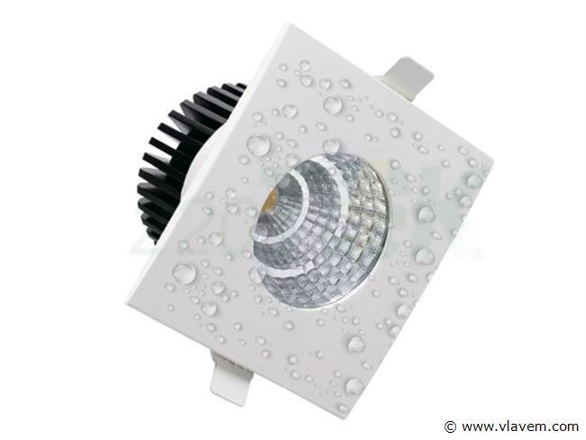 10 st. 6 watt vierkant waterdicht (ip65) led Inbouwspots - Neutraal wit