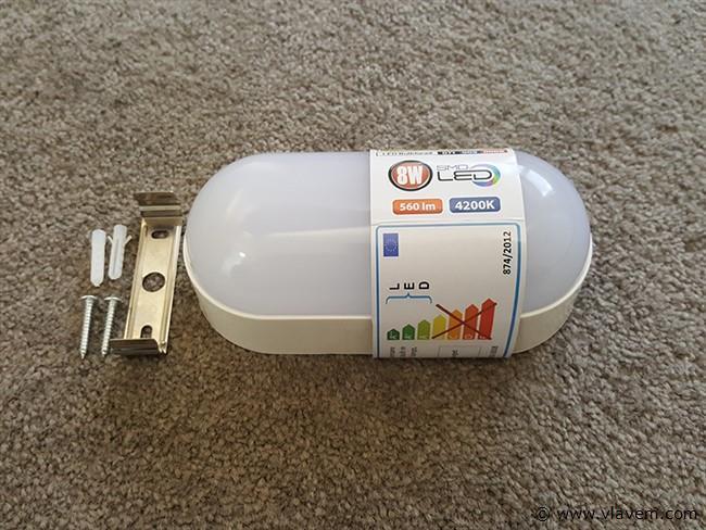 2 st. 8W LED Waterdicht opbouw armaturen - 560 lm - Neutraal wit