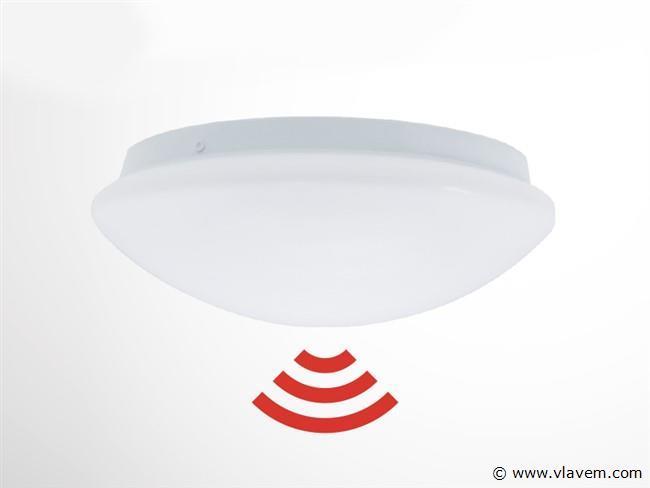 2 st. 12W microwave sensor LED panelen - Warm wit
