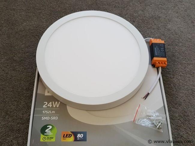 2 st. 28W LED rond opbouw led panelen - Warm wit