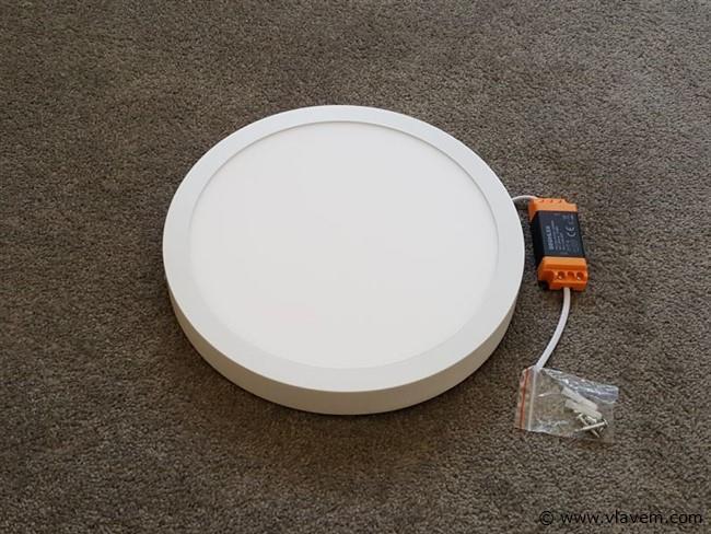10 st. 28W LED rond opbouw led panelen -  Warm wit