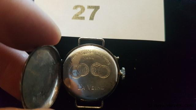 Horloge La Veine 1884 zilver 800, niet werkend